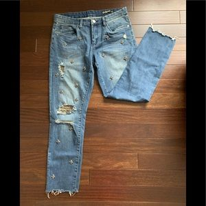 Blank NYC Jeans - BlankNYC embellished blue jeans NWOT great for NYE